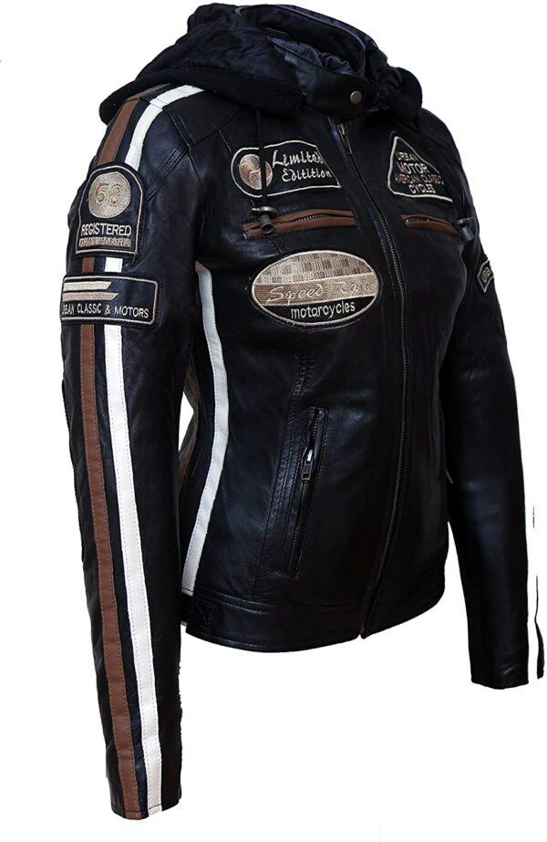 American Classic Urban Motors Black Leather Jacket