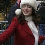 Anne Hathaway Christmas Coat