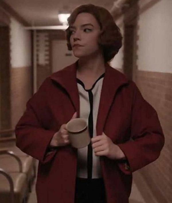 Anya Taylor-Joy Red Coat