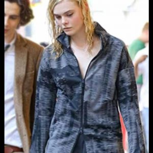 Ashleigh A Rainy Day In New York Elle Fanning Jacket