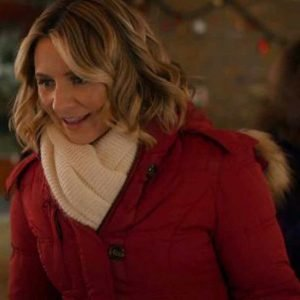 Beverley Mitchell Candy Cane Christmas Phoebe Saunders Coat