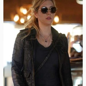 Jenny Hoyt Black Leather Jacket | Big Sky Katheryn Winnick Jacket