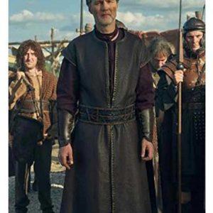 Aulus Leather Coat | Britannia Season 03 David Morrissey Coat