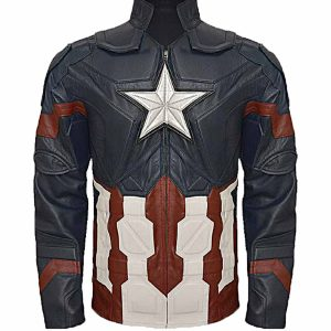 Captain America Steve Rogers: Civil War Leather Jacket