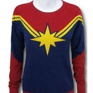 Captain Marvel Carol Danvers Costume Sweater