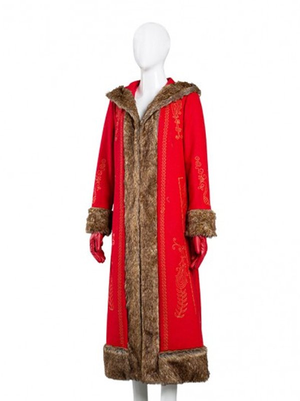 Goldie Hawn The Christmas Chronicles 2 Mrs. Claus Red Long Coat