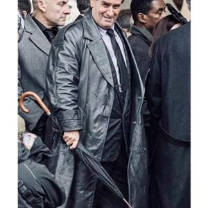 Colin Farrell The Batman 2022 The Penguin Black Leather Coat