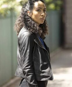 Dani Powell TV Series Prodigal Son Aurora Perrineau Green Coat