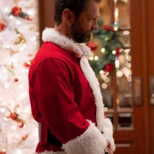 Jason Priestley Red Dear Christmas Santa Costume Jacket