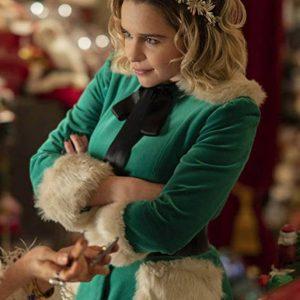 Emilia Clarke Last Christmas Green Jacket