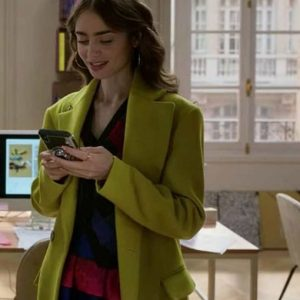 Emily Cooper Emily In Paris Chartreuse Green Lily Collins Coat