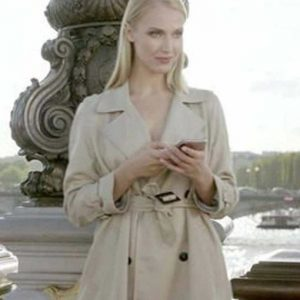 Camille Razat Emily in Paris Camille Trench Cotton Coat