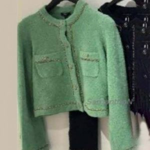 Emily Copper Lily Collins Emily in Paris Green Sequin Cardigan