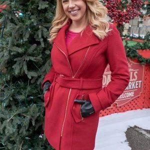 Jodie Sweetin Entertaining Christmas Red Coat | Candace Livingstone Coat