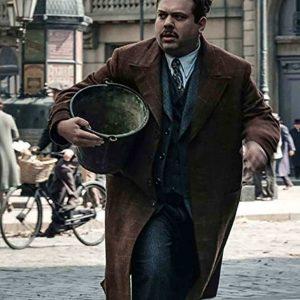 Dan Fogler Fantastic Beasts 2 Brown Cotton Long Coat