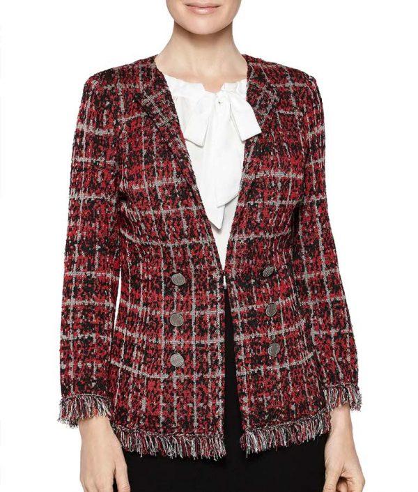 Deneen Tyler Filthy Rich Plaid Tweed Jacket