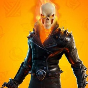 Fortnite Chapter 2 S04 Ghost Rider Cup Black Leather Spikes Jacket