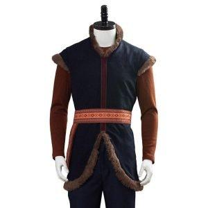 Jonathan Groff Kristoff Frozen 2 Brown Vest