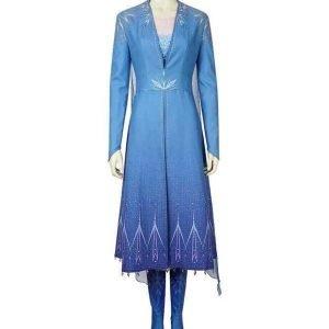 Princess Elsa Frozen 2 Blue Cosplay Cotton Coat