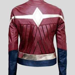 Gal Gadot Wonder Women Maroon Leather Jacket