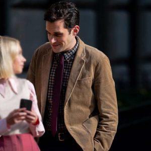 Brown Corduroy Adam Chanler-Berat Gossip Girl Blazer Jacket