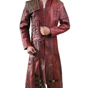 Star Lord Maroon Coat Guardain of the Galaxy 2 Leather Coat1