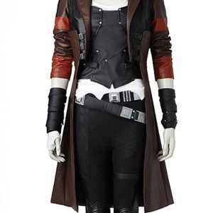 Guardains of the Galaxy 2 Gamora Leather Jacket Gamora Trench Coat