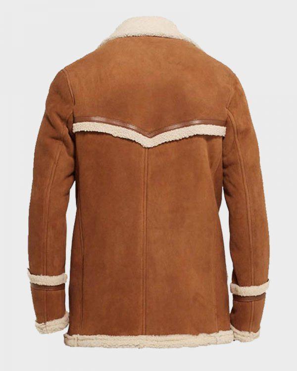 Harry Hart Brown Fur Jacket Kingsman The Golden Circle Jacket