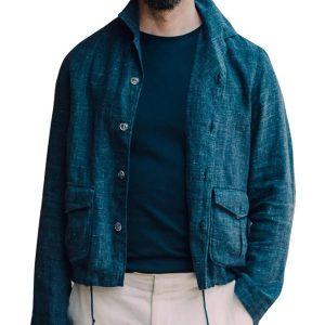 No time to die James Daniel Craig Bond Blue Cotton Jacket