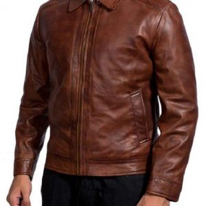 Cassian John Wick 2 Brown Leather Jacket For sale