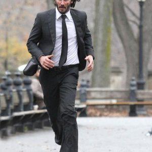 John Wick 2 Keanu Reeves Black Suit for Men