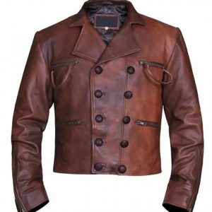 Aquaman Justice League Jacket | Jason Momoa Distressed Leather Jacket