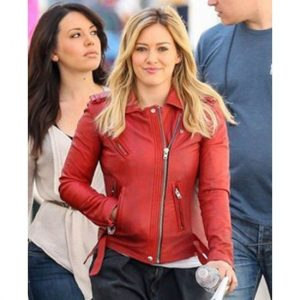 Younger Kelsey Peters Red Leather Jacket Kelsey's Biker Jacket