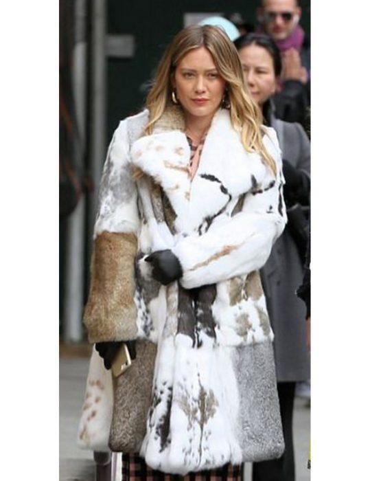 Younger Hilary Duff Fur Coat