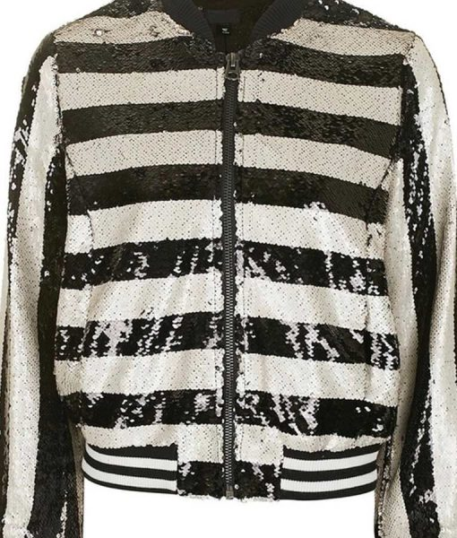 Kim Cattrall Black and White Jacket