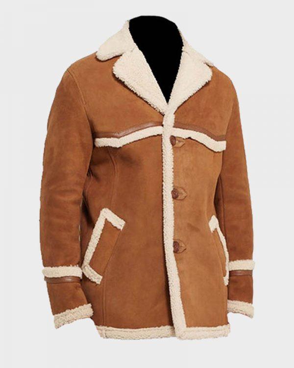 Harry Hart Kingsman The Golden Circle Colin Firth Brown Fur Jacket