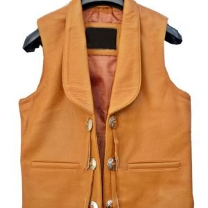 Lorne Greene Leather Vest