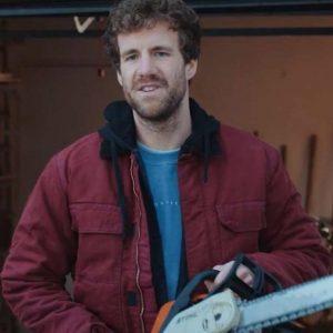 Luke Mockridge TV-Series Over Christmas Maroon Hooded Jacket