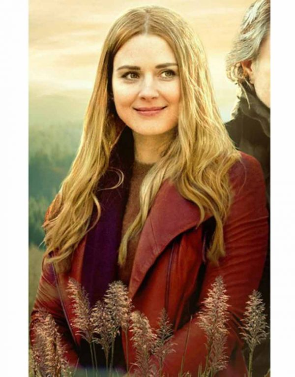 Alexandra Breckenridge Virgin River S02 Melinda Monroe Red Leather Jacket