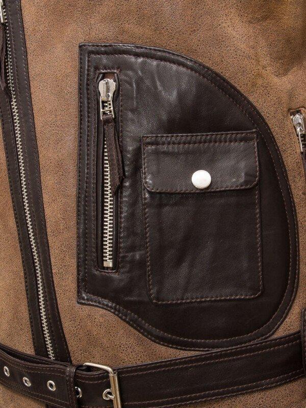 Men's Brown Sheepskin Jacket