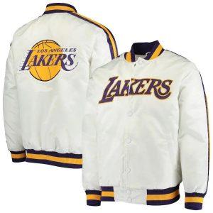 Los Angeles Lakers Satin Varsity Jacket