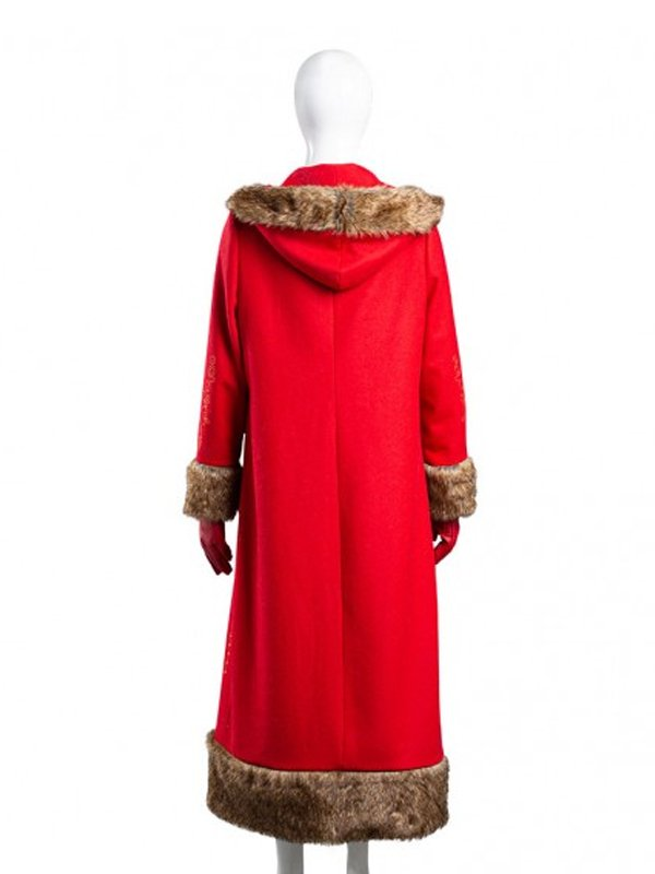 The Christmas Chronicles 2 Mrs. Claus Red Long Coat