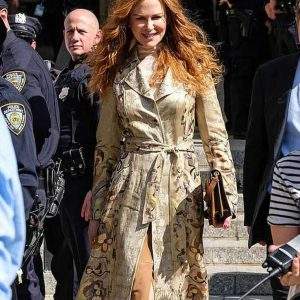 Nicole Kidman Printed Floral The Undoing Grace Fraser Coat