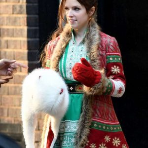 Noelle Anna Kendrick Red Chrismas Jacket