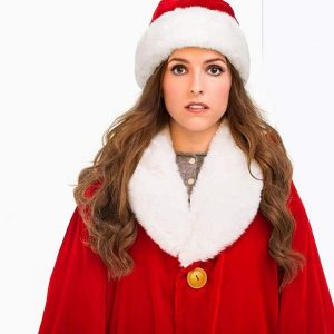 Noelle Kringle Anna Kendrick Red Christmas Shearling Coat