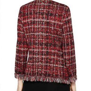 Norah Ellington Plaid Tweed Jacket