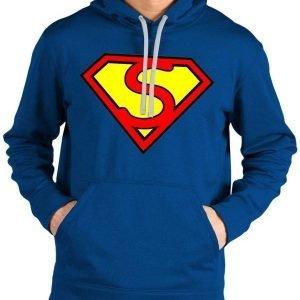 Superman Blue Logo Hoodie1