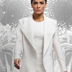 Alice Braga Queen of The South Teresa Mendoza Long White Coat