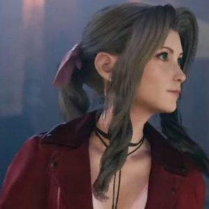 Remake Aerith Red Leather Jacket