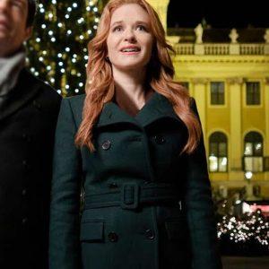 Sarah Drew Christmas in Vienna Green Coat